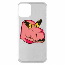 Чохол для iPhone 11 Pink dinosaur with glasses head