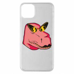 Чохол для iPhone 11 Pro Max Pink dinosaur with glasses head