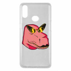 Чохол для Samsung A10s Pink dinosaur with glasses head