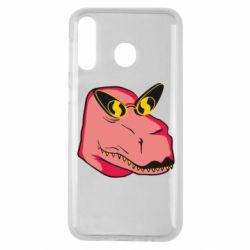 Чохол для Samsung M30 Pink dinosaur with glasses head
