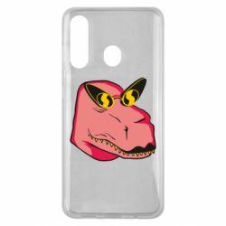 Чохол для Samsung M40 Pink dinosaur with glasses head