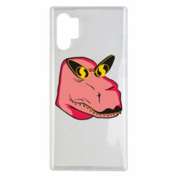 Чохол для Samsung Note 10 Plus Pink dinosaur with glasses head