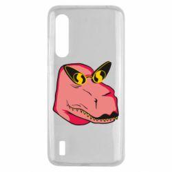 Чехол для Xiaomi Mi9 Lite Pink dinosaur with glasses head