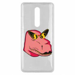 Чехол для Xiaomi Mi9T Pink dinosaur with glasses head