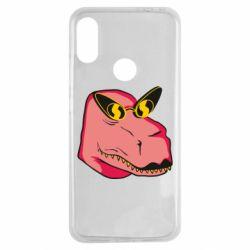 Чехол для Xiaomi Redmi Note 7 Pink dinosaur with glasses head