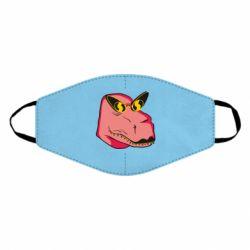 Маска для обличчя Pink dinosaur with glasses head