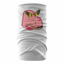 Бандана-труба Pink dinosaur with glasses head
