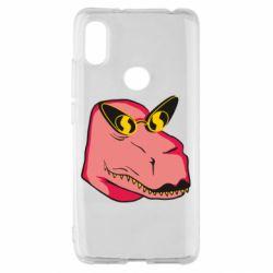 Чехол для Xiaomi Redmi S2 Pink dinosaur with glasses head