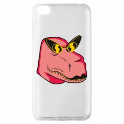 Чехол для Xiaomi Redmi Go Pink dinosaur with glasses head