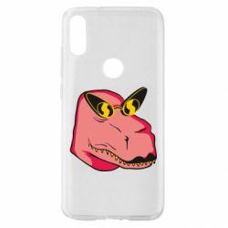 Чехол для Xiaomi Mi Play Pink dinosaur with glasses head