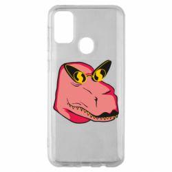 Чохол для Samsung M30s Pink dinosaur with glasses head