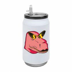 Термобанка 350ml Pink dinosaur with glasses head