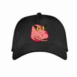 Дитяча кепка Pink dinosaur with glasses head