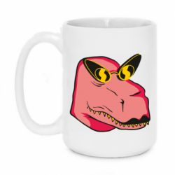 Кружка 420ml Pink dinosaur with glasses head
