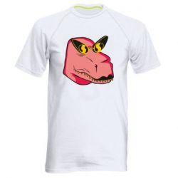 Чоловіча спортивна футболка Pink dinosaur with glasses head