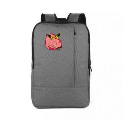 Рюкзак для ноутбука Pink dinosaur with glasses head