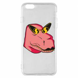 Чохол для iPhone 6 Plus/6S Plus Pink dinosaur with glasses head
