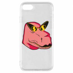 Чохол для iPhone 7 Pink dinosaur with glasses head