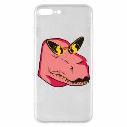 Чохол для iPhone 7 Plus Pink dinosaur with glasses head