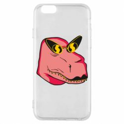 Чохол для iPhone 6/6S Pink dinosaur with glasses head