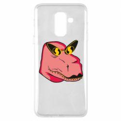 Чохол для Samsung A6+ 2018 Pink dinosaur with glasses head