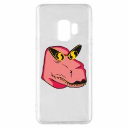 Чохол для Samsung S9 Pink dinosaur with glasses head