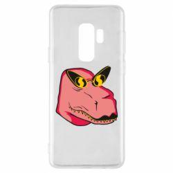 Чохол для Samsung S9+ Pink dinosaur with glasses head