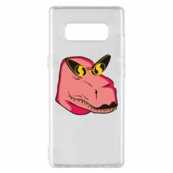 Чохол для Samsung Note 8 Pink dinosaur with glasses head