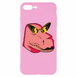 Чохол для iPhone 8 Plus Pink dinosaur with glasses head
