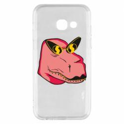 Чохол для Samsung A3 2017 Pink dinosaur with glasses head