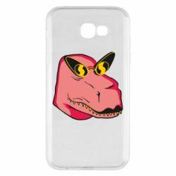 Чохол для Samsung A7 2017 Pink dinosaur with glasses head