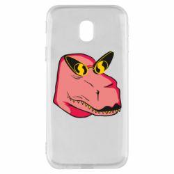 Чохол для Samsung J3 2017 Pink dinosaur with glasses head