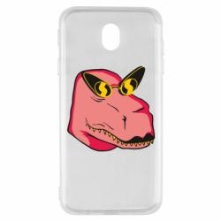 Чохол для Samsung J7 2017 Pink dinosaur with glasses head