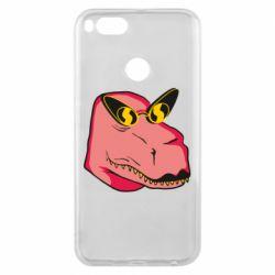 Чехол для Xiaomi Mi A1 Pink dinosaur with glasses head