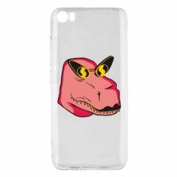 Чехол для Xiaomi Mi5/Mi5 Pro Pink dinosaur with glasses head