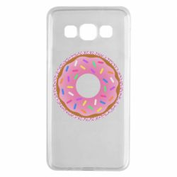 Чохол для Samsung A3 2015 Pink donut on a background of patterns