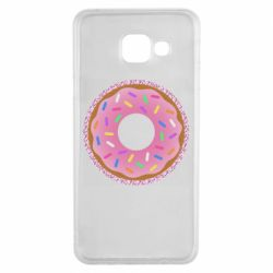 Чохол для Samsung A3 2016 Pink donut on a background of patterns