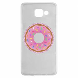 Чохол для Samsung A5 2016 Pink donut on a background of patterns