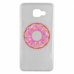 Чохол для Samsung A7 2016 Pink donut on a background of patterns