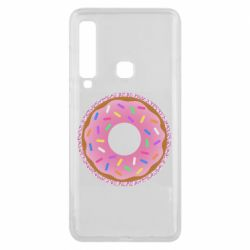 Чохол для Samsung A9 2018 Pink donut on a background of patterns