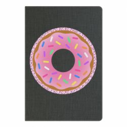 Блокнот А5 Pink donut on a background of patterns