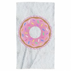 Рушник Pink donut on a background of patterns