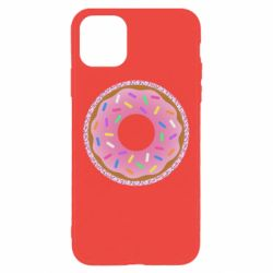 Чохол для iPhone 11 Pro Max Pink donut on a background of patterns