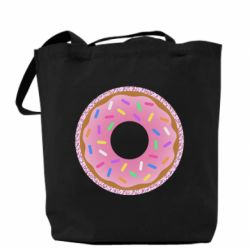 Сумка Pink donut on a background of patterns