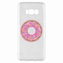 Чохол для Samsung S8 Pink donut on a background of patterns