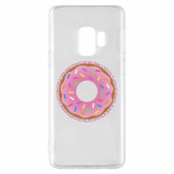 Чохол для Samsung S9 Pink donut on a background of patterns