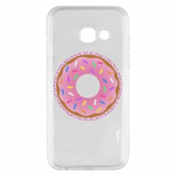 Чохол для Samsung A3 2017 Pink donut on a background of patterns