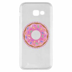 Чохол для Samsung A5 2017 Pink donut on a background of patterns