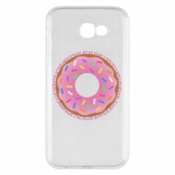Чохол для Samsung A7 2017 Pink donut on a background of patterns