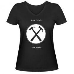 Женская футболка с V-образным вырезом Pink Floyd The Wall